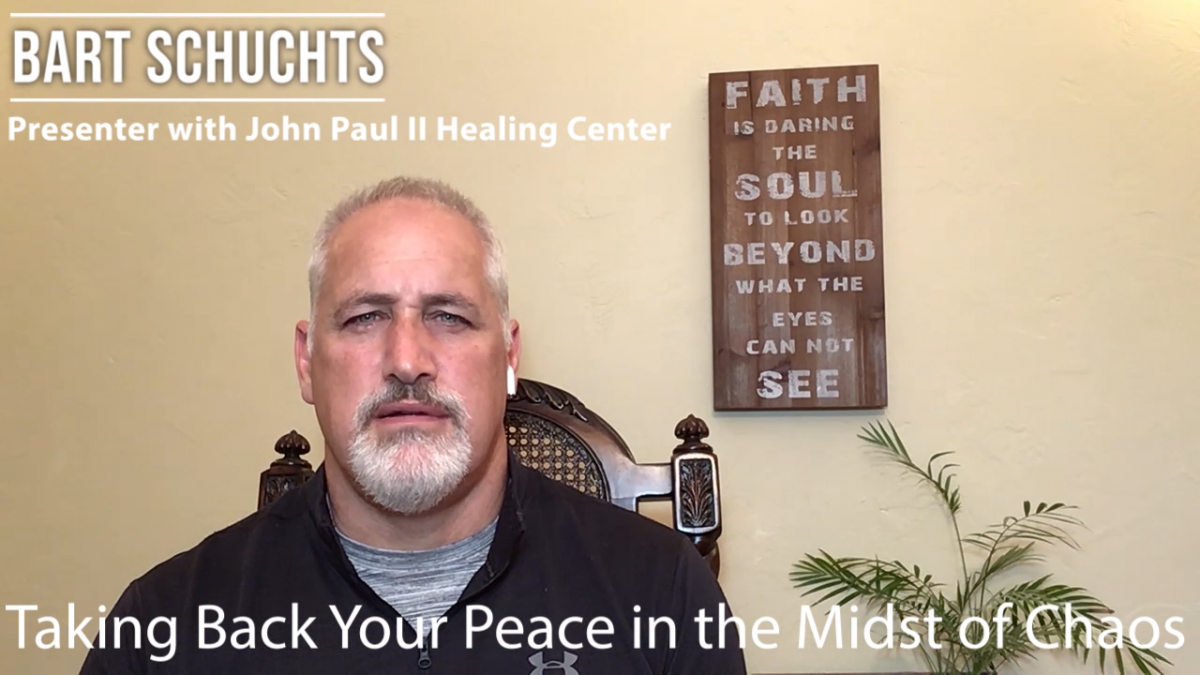Taking Back Your Peace in the Midst of Chaos – Bart Schuchts